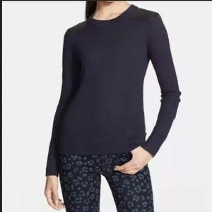 Kate Spade navy blue sweater long sleeve sz XL